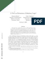 Saharon Shelah and Jouko Vaananen- A Note on Extensions of Infinitary Logic