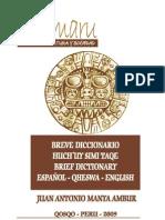 DICCIONARIO QUECHUA ESPAÑOL E INGLES