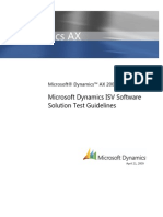 Microsoft Dynamics AX 2009 Software Solution Test Guidelines April 21 2009