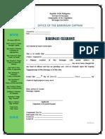 Barangay Clearance