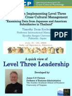 Difficulties in Implementing Level Three Leadership in Cross-Cultural Management