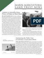 2006 Spring Marin Agricultural Land Trust Newsletter