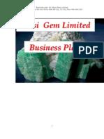 Business Plan, Musi Gem Limited, Copperbelt Province, Zambia