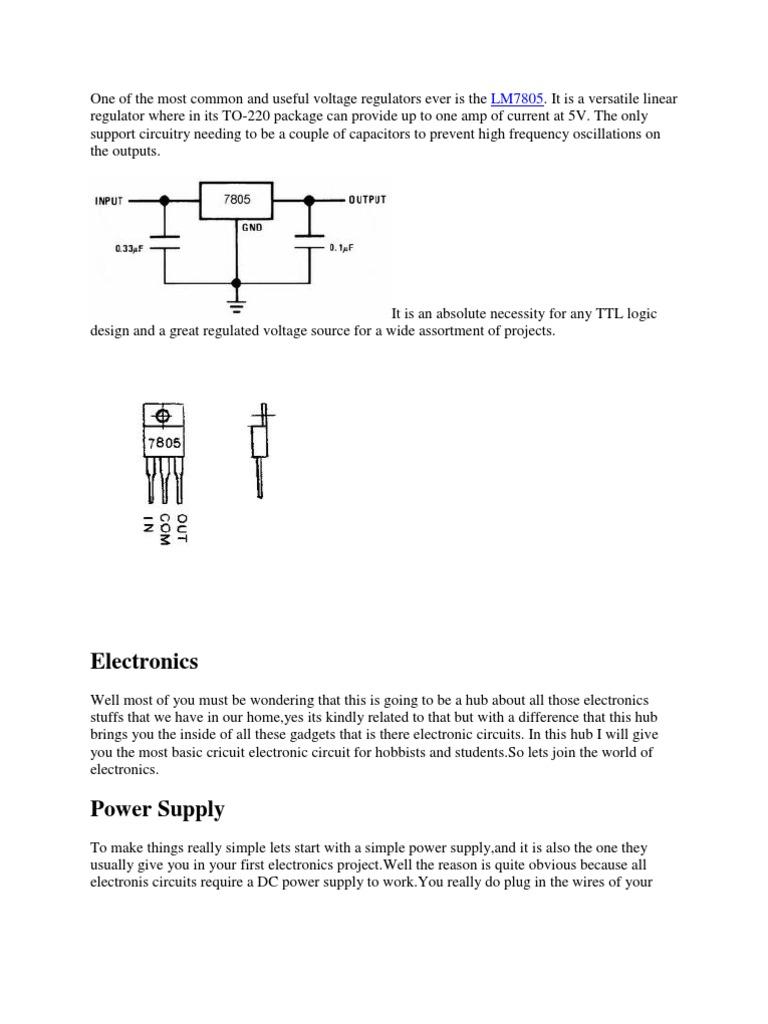 Voltage Regulator Power Supply Series And Parallel Circuits Voltregulator Negative Fixedvoltage Circuit Diagram