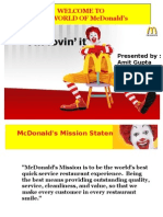Welcome to Mcdonalds Ppt