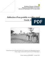 Adduction d'Eau Potable en Milieu Rural -Guide de Projet