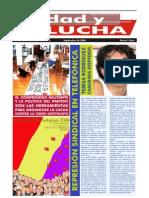 Unidad y Lucha, nº 257, septiembre 2008