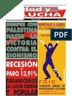 Unidad y Lucha, nº 262, febrero 2009