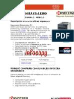 Toner original para Kyocera Mita FS-1020D