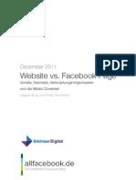 Website vs. Facebook Page Vorteile, Nachteile, Verknüpfungsmöglichkeiten und die Media Cloverleaf