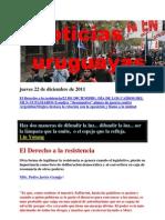 Noticias Uruguayas Jueves 22 de Diciembre de 2011
