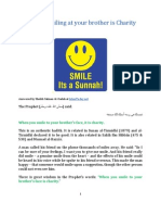 Hadith Smile It is Sunna
