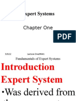 Ch 1 Fundamentals of Expert Systems