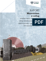 Raport Wzornictwo e-usług. Analiza stanu wzornictwa usług świadczonych drogą elektroniczną i perspektywy ich rozwoju w Polsce