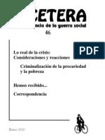Etcétera, nº 46, 2010 - Lo real de la crisis