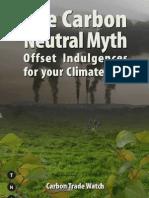 Carbon Neutral Myth