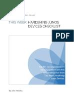 JunosHardening Checklist