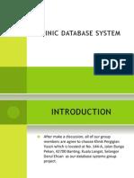 Dental Clinic Database System