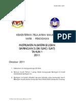 Instrumen Numerasi Lisan Tahun 1 2011
