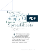 Designing Large Scale Supply Chain Linear Programs in Spreadsheets
