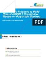 Digimatum09 Rhodia Good Practices to Build Robust Digimat Constitutive Models Polyamide Matrixes