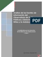 Análisis de las fuentes de información del Observatorio de Políticas Públicas y Derechos de la Niñez y la Adolescencia