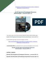 Apostila TCE SP Agente Fiscalização Financeira Administração Concurso 2011-12