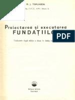 Proiectarea Si Executarea Fundatiilor M J Tomlinson Var Completa