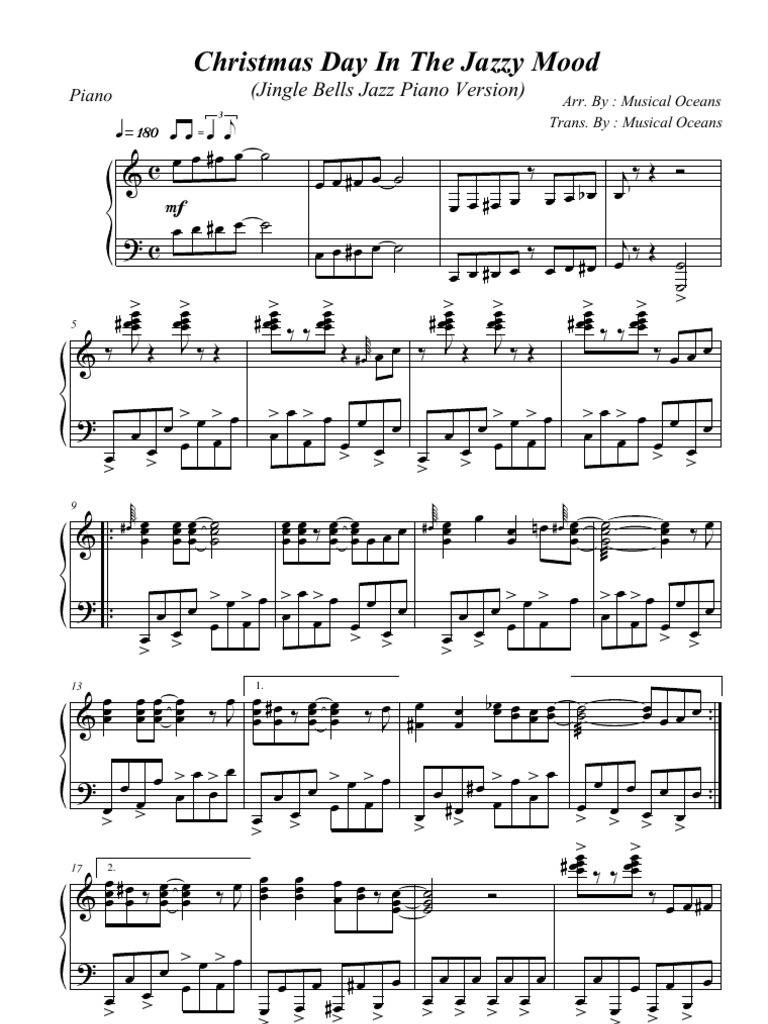 Pdf jingle bells jazz version white christmas piano sheet music free
