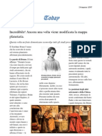 Le scoperte di Giordano Bruno - Articolo di giornale