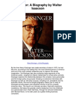 Kissinger a Biography by Walter Isaacson - Henry Kissinger--A Fair Biography