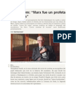 Hobsbawm -Marx Fue Un Profeta Sin Armas- Revista de Cultura