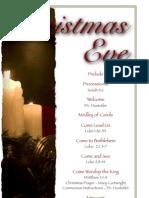 2011 Candlelight Christmas Eve Bulletin