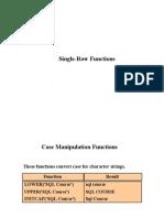 e computer notes - Single Row Functions