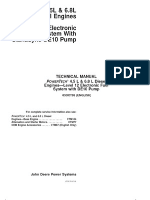 PowerTech 4 5L &6 8L Diesel Engines - Level 12 Electronic Fuel