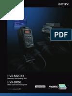 Hvr-dr60 Hvr-mrc1k Brochure Final08
