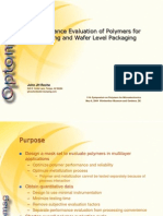 Perform Ace Evaluation of Polymers