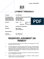 E. Michalak -  Reserved Remedy Tribunal Decision