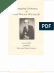 Carl Newton Gunter, Jr., Funeral Program