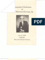 Carl Newton Gunter, Jr., Funeral Program