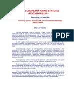CARTA EUROPEANA a Judecatorilor