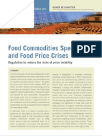 Olivier de Schutter Food Commodities Speculation and Food Price Crise