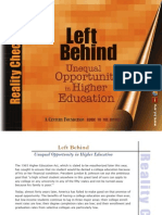 2011 Left Behind- Unequal Opportunity in Higher Ed