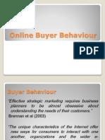Online Buyer Behavior