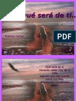 Que Ser de Ti - Roberto Carlos
