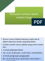 PPT Rumusan-Rumusan Dalam Eskalasi Harga