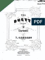 Gambaro Tre Duetti for Two Clarinets