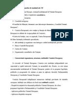 Clasificarea Tipurilor de Institutii Ale UE