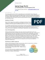 Exam Study Guide for Microsoft 70-673