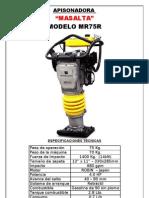 Masalta MR75R - Apisonadora